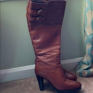 Cole Haan leather knee high boot (Nike Air Sole)